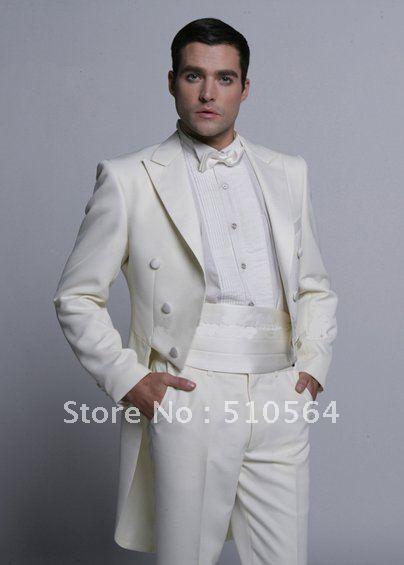 [해외]도매  화이트 신랑 페타 정장 결혼식 들러리 제비 꼬리 코트 남성 정장 신랑/Wholesale Free shipping White Groom swallowtail suit Wedding Groomsman swallow-tailed coat Men Bridegro