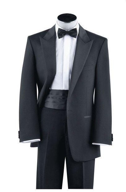 [해외]도매 높은 품질 검은 울 신랑 턱시도 웨딩 들러리 남성 신랑 정장 (재킷 + 바지 + 허리띠)/Wholesale High quality black wool Groom Tuxedos Wedding Groomsman Men Bridegroom Suits ( Jack