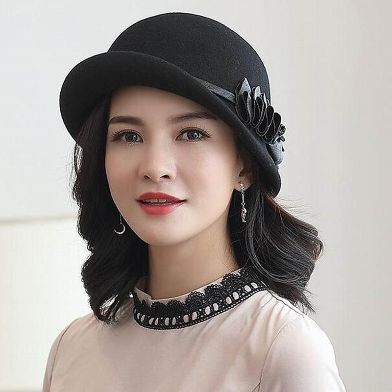 a3fbc4d90 [해외]Lady New Fashion Winter Fedoras Cap Women Elegant ...