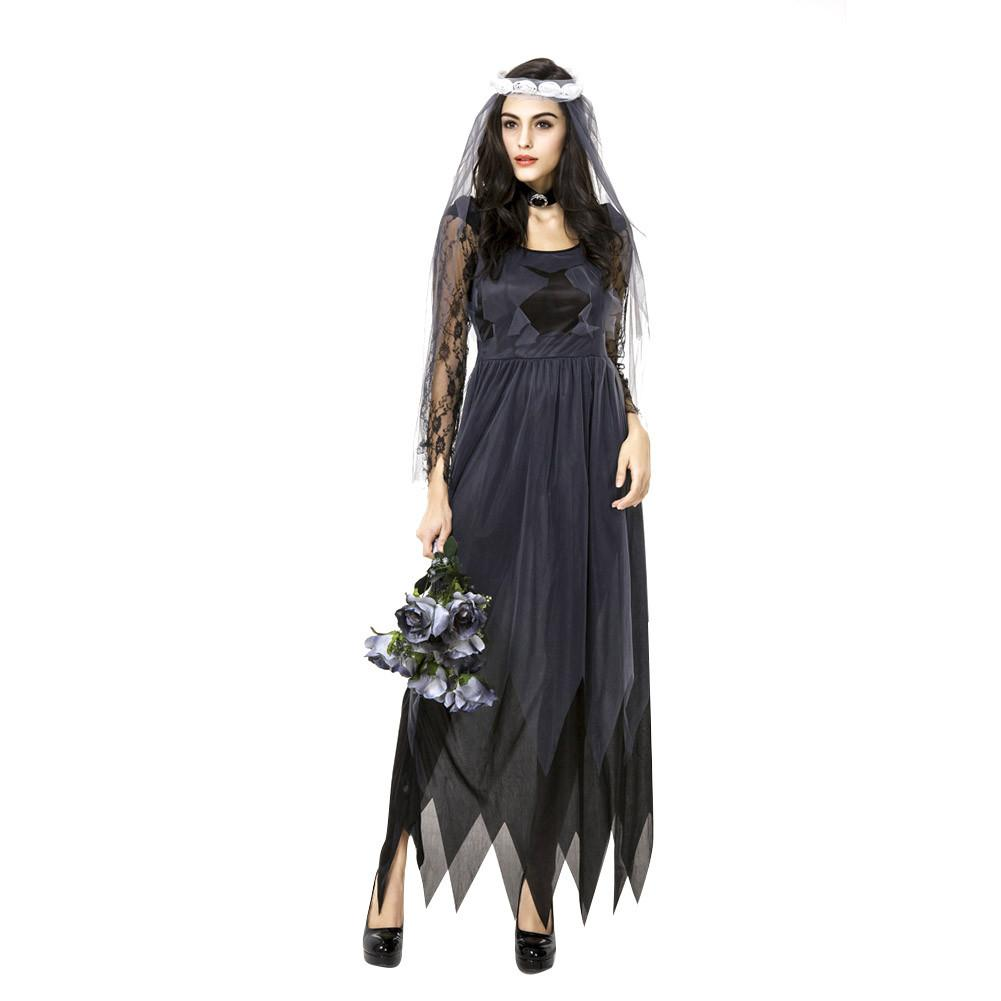 c60fe3eeea [해외]New Scary Halloween Christmas Party Costume Ghost Bride ...