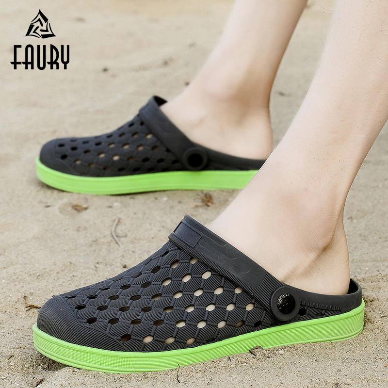 [해외]Men`s Women`s Sandals Slippers Casual Work Dual-use Shoes Anti-slip Breathable Soft Hole Shoes Kitchen Worker Flip Flop/Men`s Women`s Sandals Slip