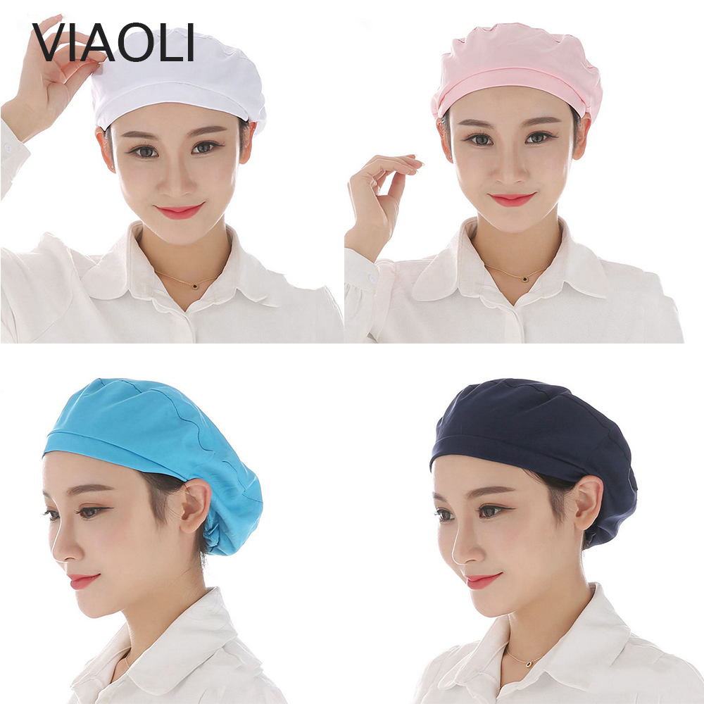 [해외]UniElastic Caps Kitchen Restaurant Bakery Waiter Chef Work Wear Hats Men Women Breathable Factory Warehouse Workshop Caps/UniElastic Caps Kitchen