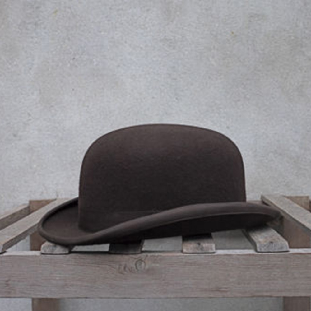 0a6e72bc523aa5 [해외]100% Wool Bowler Hat Women men 100% Crushable Traditional Billycock  Groom
