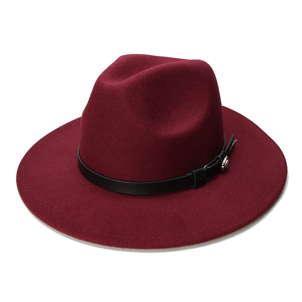 9097ac73e0 [해외]Brand New Wool Boater Flat Top Hat for Women`s Felt Wide ...