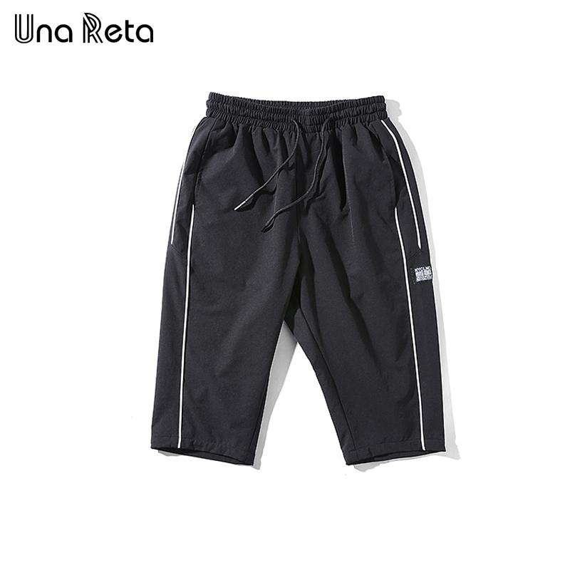 [해외]Una Reta Mens 반바지 2018 새로운 봄 여름 남성 솔리드 탄성 허리 캐주얼 짧은 바지 패션 무릎 길이 남성 & 반바지/Una Reta Mens Shorts 2018 New Spring Summer Male Solid Elastic Waist