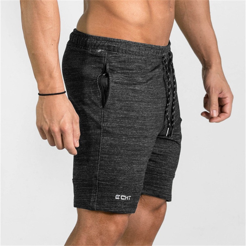 [해외]남성용 보디 빌딩 반바지 여름 뉴 캐쥬얼 코튼 남성 반바지 포켓 지퍼 남성용 반바지 2018 Mens Fashion Fitness Men shorts/Men s Bodybuilding Shorts Summer New Casual Cotton Mens Shorts