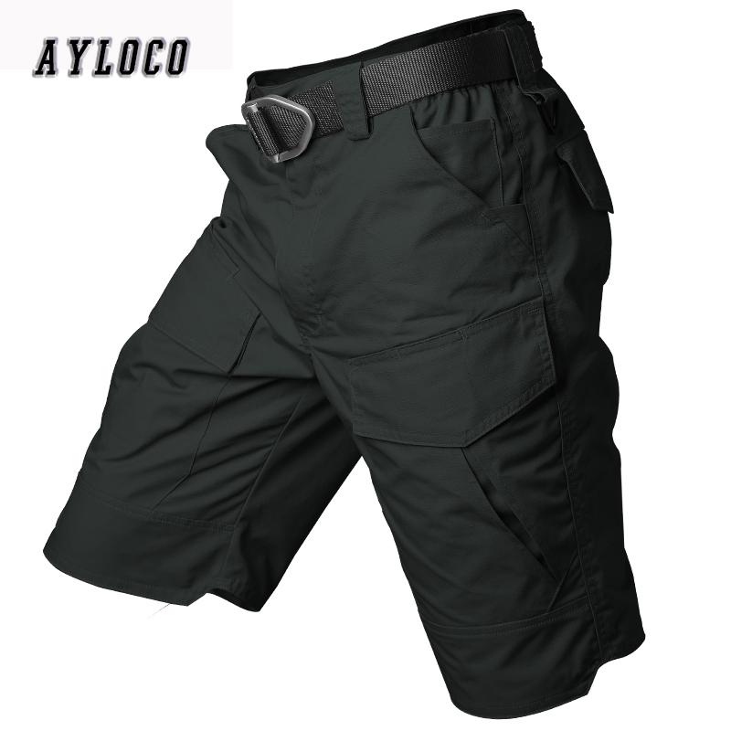 [해외]뉴 여름 밀리터리 방수 전술화물 반바지 남자 테 플 론 위장 육군 밀리터리 짧은 남자 캐주얼 반바지/New Summer Military Waterproof Tactical Cargo Shorts Men Teflon Camouflage Army Military S