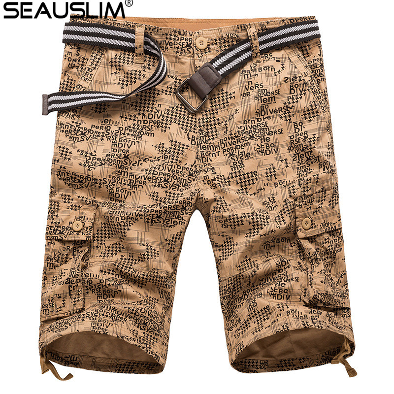 [해외]SEAUSLIM 여름 캐주얼 반바지 남자 편지 전술화물 짧은 바지 밀리터리 스타일 육군 전투 남성 의류 LQ-TPL-01/SEAUSLIM Summer Casual Camo Shorts Men letter Tactical Cargo Short Trousers Mi