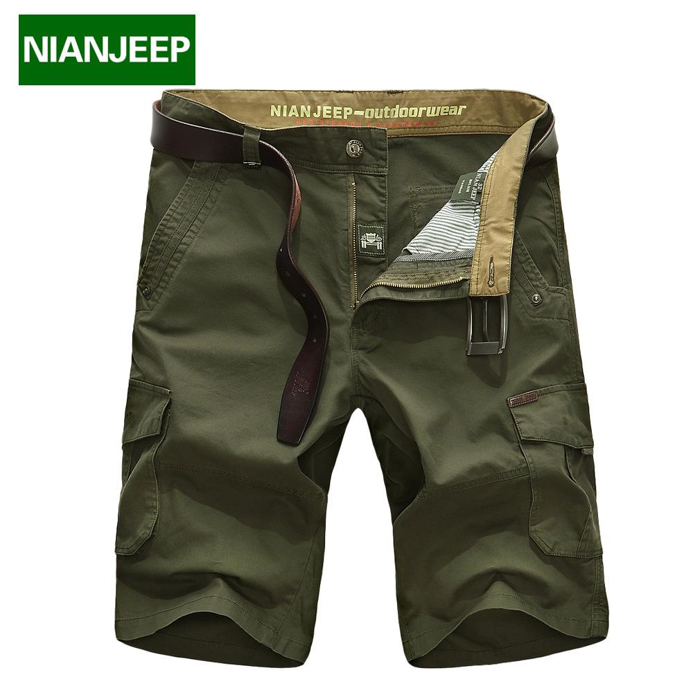 [해외]NIAN JEEP 브랜드 의류 남성용 반바지 마스코 리노 카고 밀리터리 반바지 남성 옴므 겉옷 면직물 루스 캐주얼 육군 반바지 58/NIAN JEEP Brand Clothing Men Shorts Masculino Cargo Military Shorts Mens