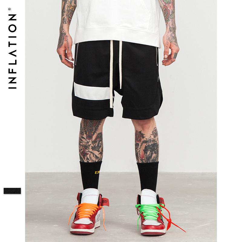 [해외]인플레이션 남자 반바지 힙합 브랜드 의류 Streetwear 끌기 로프 지퍼 조깅 반바지 메쉬 포켓 조수 힙합 반바지 8422S/INFLATION Men Shorts Hip Hop Brand Clothing Streetwear Draw Rope Zipper Jo