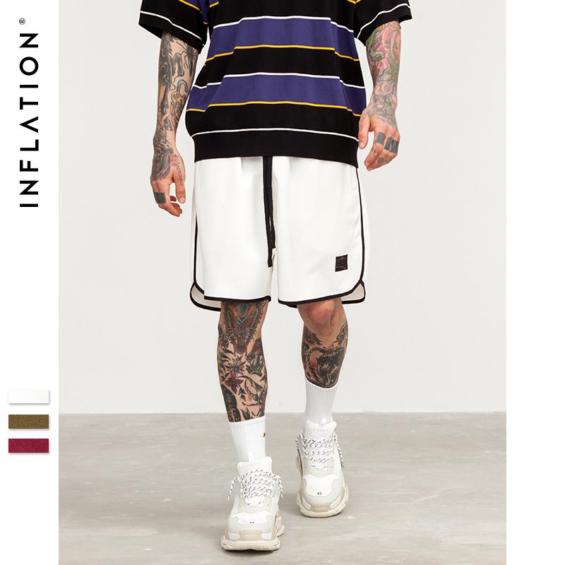 [해외]인플레 2018 뉴 남성 여름 스타일 루즈 패션 반바지 streetwear 캐주얼 짧은 바지 신축성 허리 짧은 운동복 8420S/INFLATION 2018 New Men Summer Style Loose Fashion Shorts streetwear casual