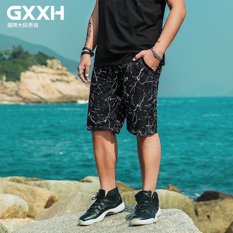 [해외]GXXH 플러스 사이즈 남성 캐주얼 반바지 느슨한 탄성 허리 통기성 여름 헐렁한 반바지 남자 크고 키가 큰 남자 & s 6XL 5XL 4XL 3XL XXL/GXXH Plus Size Men Casual Shorts Loose Elastic Waist Br