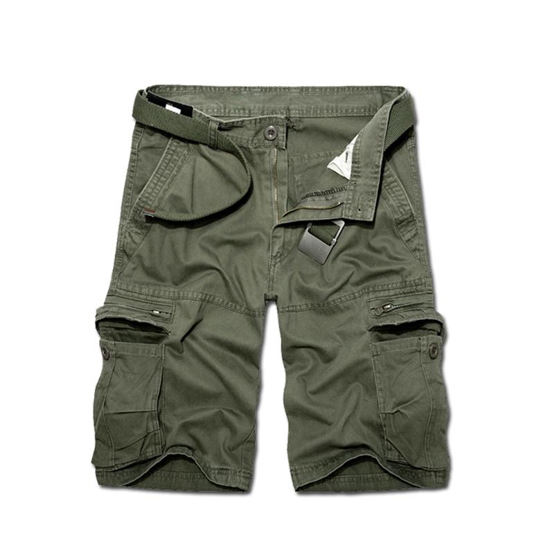 [해외]2018 년 미국과 유럽 군대 반바지 남성용 대형 사이즈 망 다섯 번째 길이 반바지 멀티 포켓 면화 군대 반바지/2018 America and Europe Military shorts Large size mens fifth-length Shorts multi-p