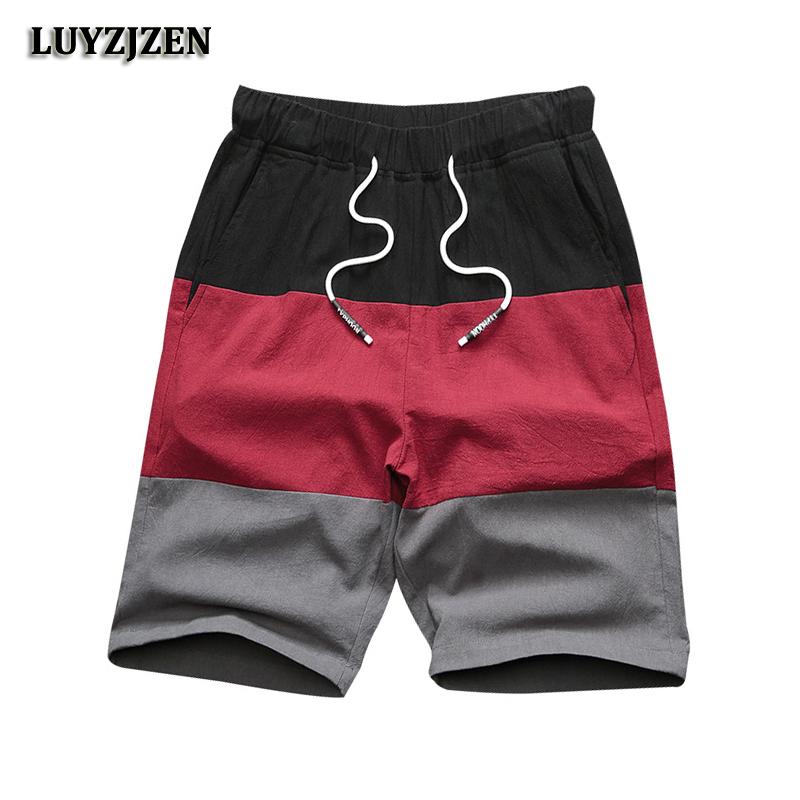[해외]2018 새로운 브랜드 캐주얼 반바지 남성 신축성 허리 여름 해변 면화 버뮤다 무릎 길이 패션 통기성 반바지 빠른 건조 C41/2018 New Brand Casual Shorts Men Elastic Waist Summer Beach Cotton Bermuda