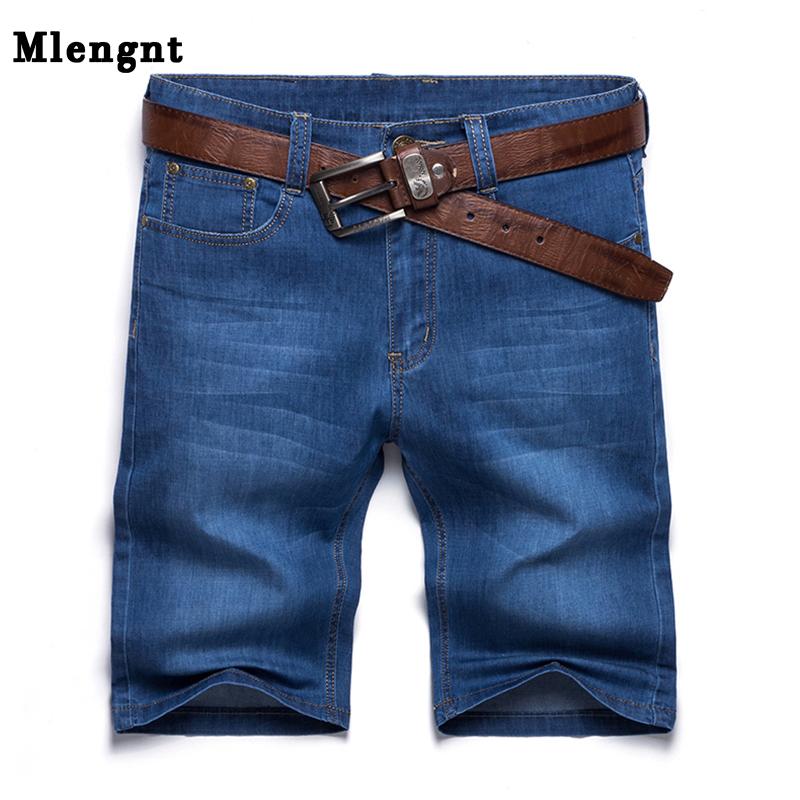 [해외]플러스 사이즈 30-52 남자 클래식 얇은 청바지 반바지 봄 가을 남성 캐주얼 느슨한 코튼 스트레치 비치 버뮤다 데님 짧은 바지/Plus Size 30-52 Men Classic Thin Jeans Shorts Spring Autumn Male Casual Lo