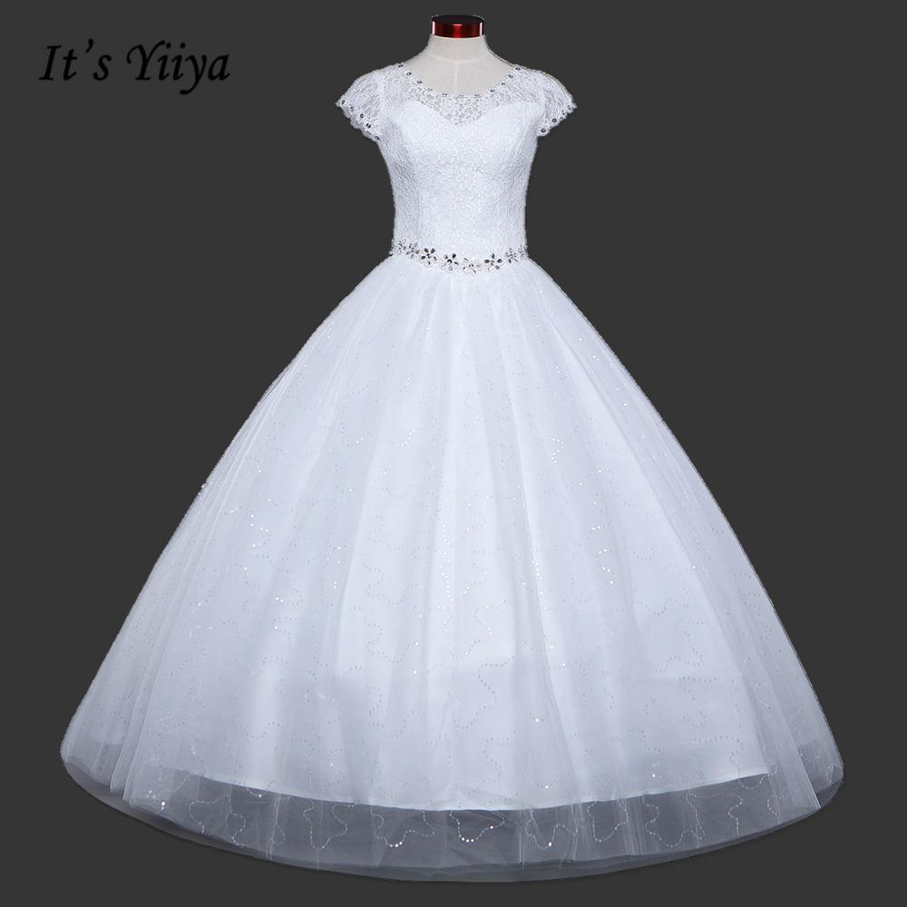 [해외]2017 여름 Vestidos 드 Novia 리얼 포토 레드 화이트 레이스 O - 목 장식 조각 웨딩 드레스 Cheap Princess Bride Gowns Frock HS587/2017 Summer Vestidos De Novia Real Photo Red W