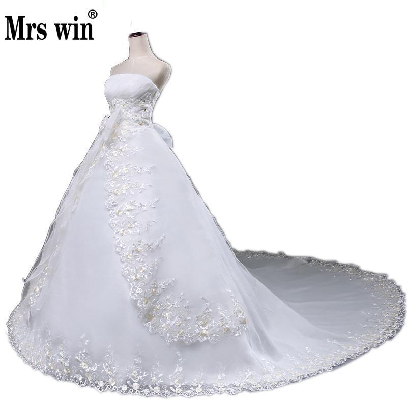 [해외]웨딩 드레스 2016 Sweetangel 여름 스타일 테일 신부 드레스 한국어 스타일 웨딩 드레스 Tulle 신부 드레스 빈티지/Wedding Dress 2016  Sweetangel Summer Style Tail Bride Dresses Korean Styl