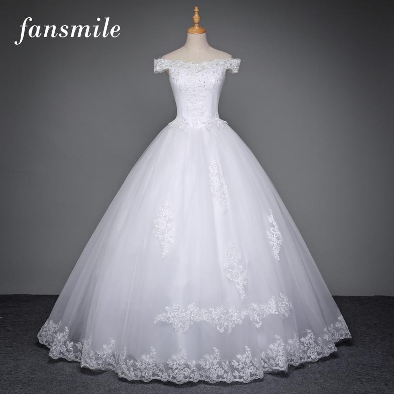 [해외]Fansmile 한국어 레이스 업 볼 가운 웨딩 드레스 2017 플러스 사이즈 신부 드레스 공주 웨딩 드레스 실제 사진 FSM - 003F/Fansmile Korean Lace Up Ball Gown Wedding Dresses 2017 Plus Size Bri