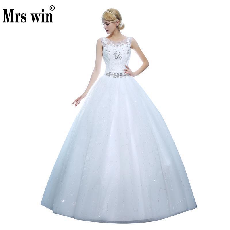 [해외]?새로운 신부 드레스 럭셔리 웨딩 드레스를 통해 볼 대형 맞춤 제작 웨딩 드레스 406/ New The Bride Dress Luxury See Through Wedding Dress Large Size Custom Made Wedding Dress 406