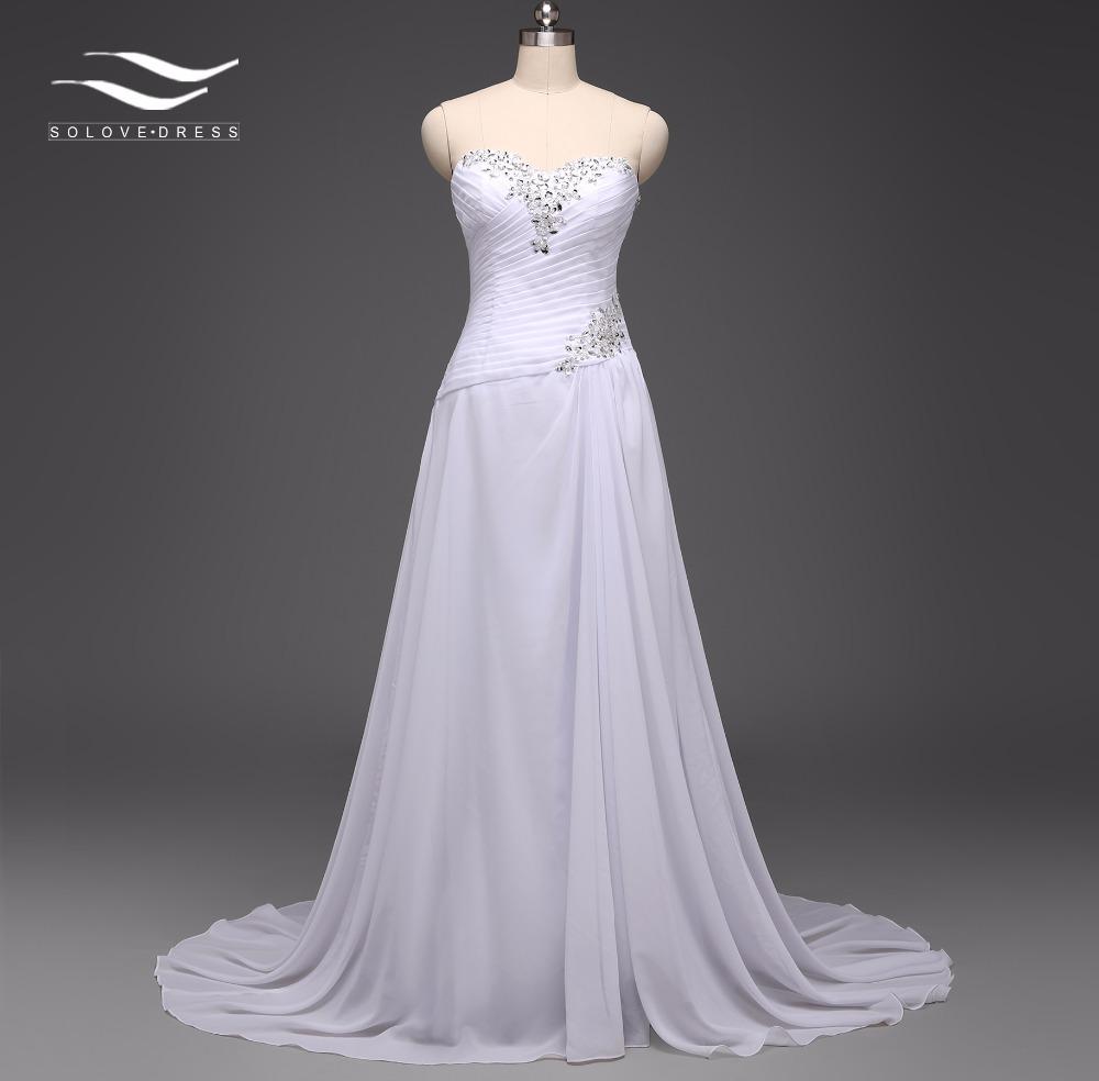[해외]시폰 비치 웨딩 드레스 라인 Boho 저렴한 빈티지 웨딩 드레스 2017 로브 드 Mariage 신부 가운 SLD - W11/Chiffon Beach Wedding Dress A Line Boho Cheap Vintage Wedding Dress 2017 Rob