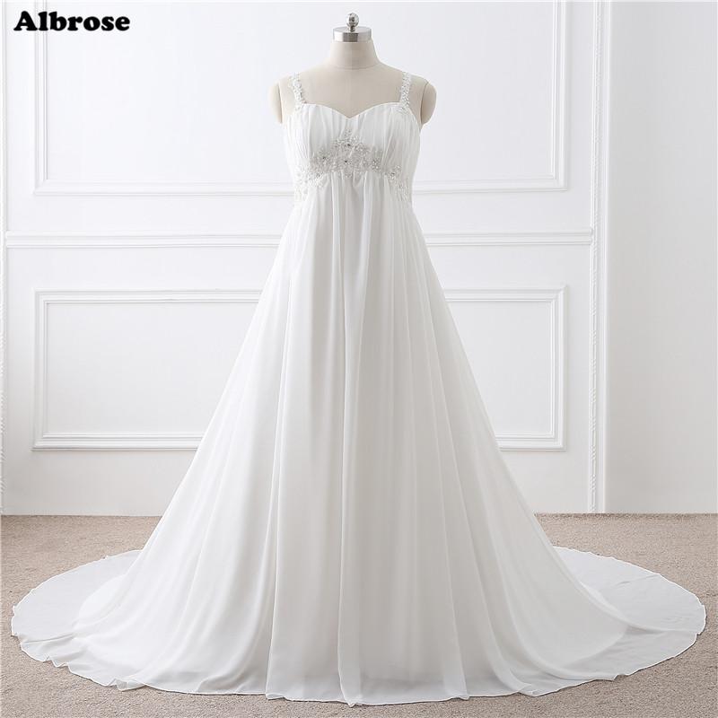 [해외]재고 있음 출산 웨딩 드레스 레이스 플러스 사이즈 웨딩 드레스 긴 세련된 신부 드레스 세련된 정장 복장 임신 여성을위한/In Stock Maternity Wedding Dress Lace Up Plus Size Wedding Dresses Long Chic Br