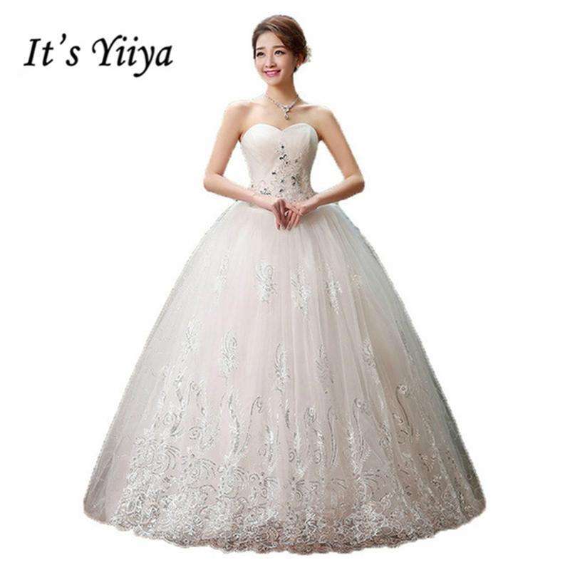 [해외]그것 & s Yiiya 2017 새로운 공주의 웨딩 드레스 레이스 로맨틱 웨딩 드레스 패션 신부의 가격은 50 아래 Vestidos 드 Novia HS126/It&s Yiiya 2017 new princess wedding gown lace romanti