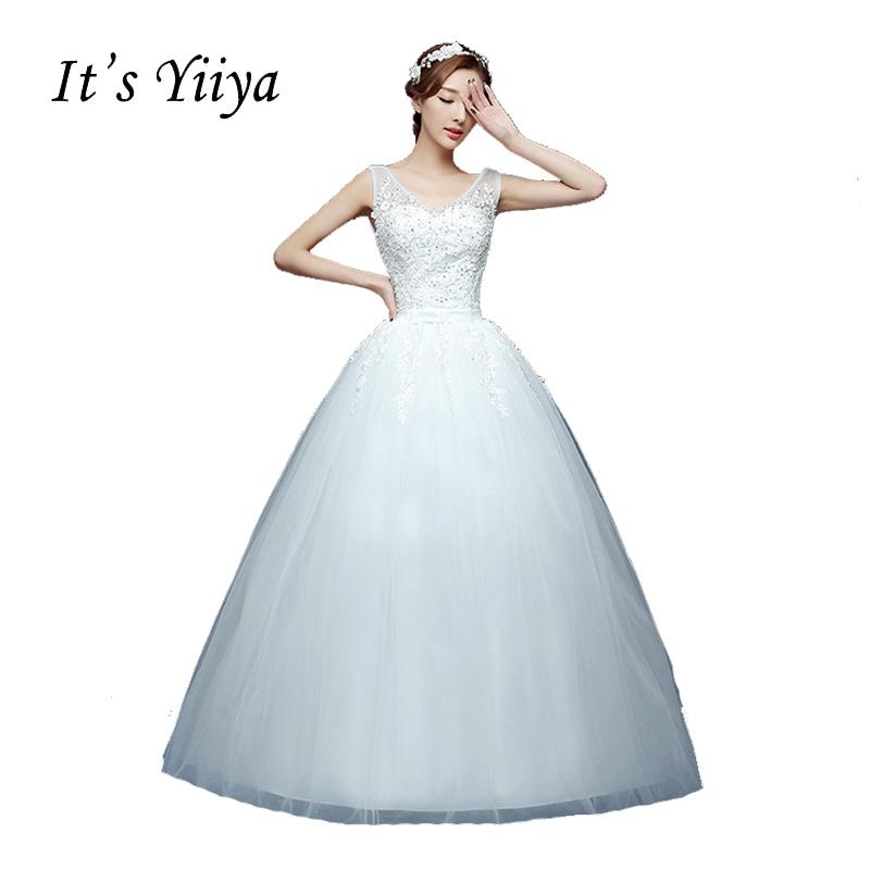 [해외]2017 V- 목 플러스 크기 화이트 신부 공주 패션 Vestidos 드 Novia 신부 웨딩 볼 가운 저렴 한 결혼식 Frocks HS227/2017 V-neck Plus size White Bride Princess Fashion Vestidos De Nov