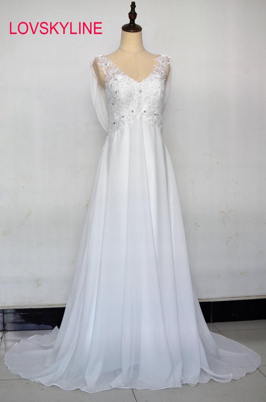 [해외]Vestido de Noiva A-Line 싸구려 웨딩 드레스 2018 레이스 Appiques 스윕 기차 스카프 로브 드 Mariage  신부 가운 제거/Vestido de Noiva A-Line Cheap Wedding Dress 2018 Lace Appliq
