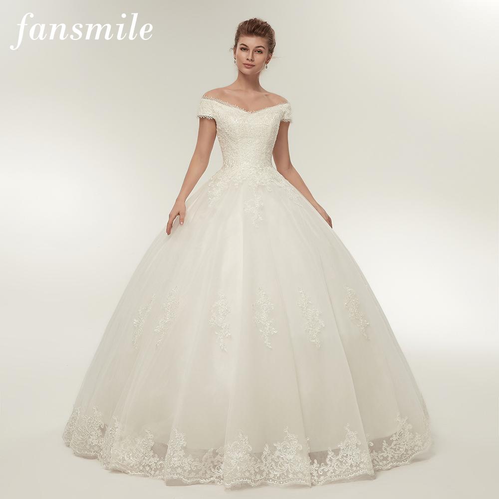 [해외]Fansmile 리얼 사진 간단한 레이스 업 볼 웨딩 드레스 2017 로브 드 Mariee 사용자 정의 플러스 사이즈 신부 가운 FSM - 344F/Fansmile Real Photo Simple Lace Up Ball Wedding Dresses 2017 Ro