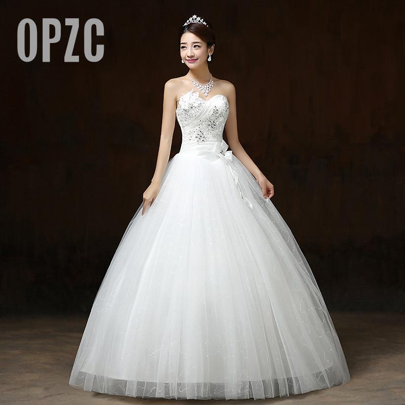 [해외]진짜 사진 Customizd 2017 어 싸구려 새로운 한국어 스타일 스위트 공주 다이아몬드 화이트 웨딩 드레스 vestido de noiva/Real Photo Customizd 2017 Wholesale Chinese Cheap New Korean Style
