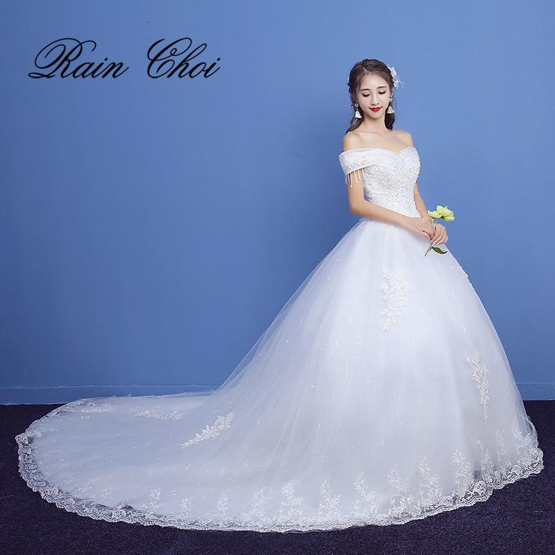 [해외]웨딩 드레스 2018 긴 기차 신부 가운 vestido de novia/Wedding Dresses 2018 Long Train Bridal Gowns vestido de novia