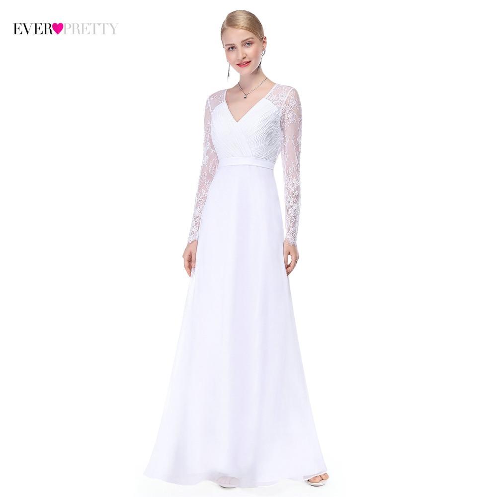 [해외]환상 긴 Retail 웨딩 드레스 긴 레이스 라인 브이 넥 간단한  신부 드레스 2018 우아한 트로이 목마 결혼/Illusion Long Sleeve Wedding Dresses Long Lace A Line V Neck Simple China Bride Dr