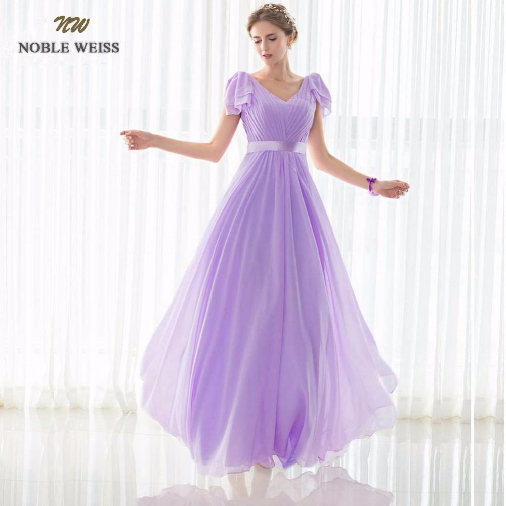 [해외]NOBLE WEISS 특별한 날 드레스 A 라인 플리츠 쉬폰 롱 이브닝 드레스 2018 New Arrival Formal Dresses 모자 슬리브/NOBLE WEISS Special Occasion Dresses A-line Pleat Chiffon Long