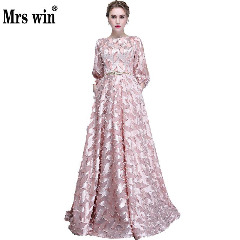 [해외]로브 드 Soiree 이브닝 드레스 2,017 새로운 긴 우아한 우아한 목에 럭셔리 A - 라인 고귀한 연회 파티 댄스 파티 드레스 X/Robe De Soiree Evening Dresses2017 New Long Elegant O-neck Luxury Appl