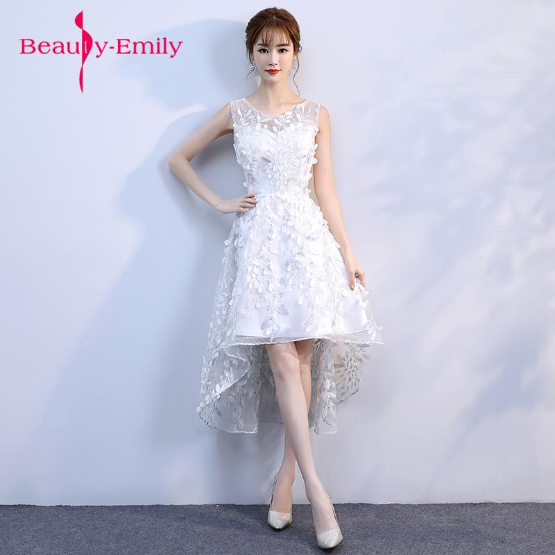 [해외]구슬 장식 깃털 장식 이브닝 드레스 짧은 흰색 동창회 파티 우아한 Vestido De Festa Prom 가운 2018 신규/Beading feathers decoration Evening Dresses short white Homecoming dresses