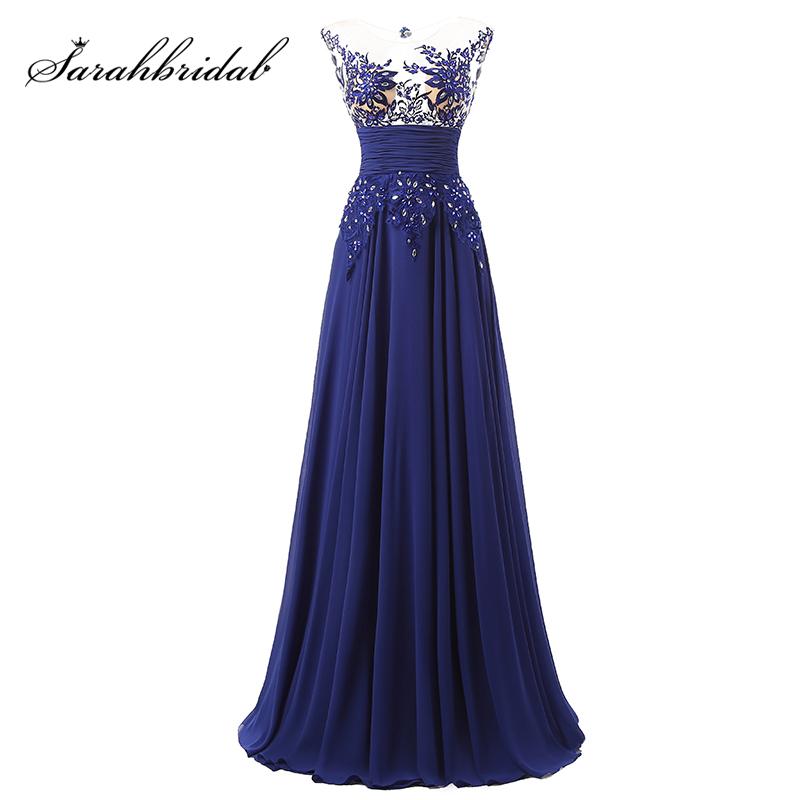 [해외]우아한 바닥 길이 공식적인 이브닝 드레스시 폰 긴 파티 드레스 Appliques 및 Crystals SD064/Elegant Floor Length Formal Evening Dresses Chiffon long Party DressesAppliques and