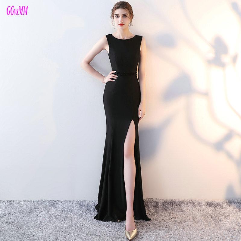 [해외]매혹적인 검은 인어 정장 긴 2018 새로운 섹시한 탄성 새틴 이브닝 드레스 특종 맞춤 제작 레이디 이브닝 가운/Glamorous Black Mermaid Formal Dresses Long 2018 New Sexy Elastic Satin Evening Dre