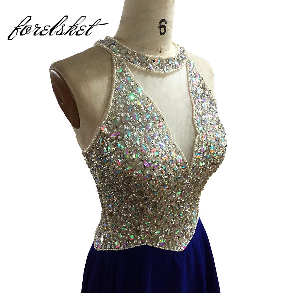 [해외]로얄 블루 롱 이브닝 드레스 2017 저렴한 무도회 Dressesstones 쉬폰 층 길이 공식 파티 드레스 가운 드레 이레/Royal Blue Long Evening Dresses 2017 cheap prom Dressesstones Chiffon Floor