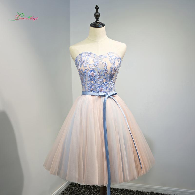 [해외]드림 엔젤 우아한 Strapless 무릎 길이 칵테일 드레스 2017 Beading 자수 특별한 경우 드레스 파티에 짧은 드레스/Dream Angel Elegant Strapless Knee Length Cocktail Dresses 2017 Beading Em