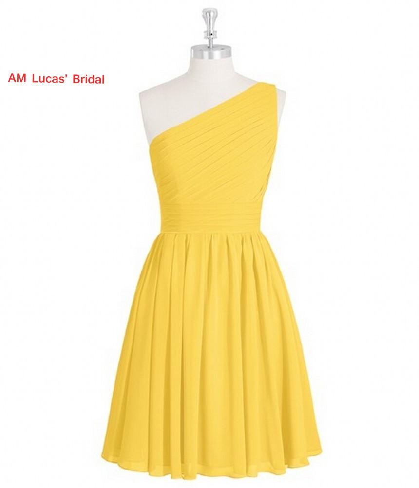 [해외]새로운 노란색 간단한 칵테일 드레스 2017 무릎 길이 파티 파티 드레스 칵테일 파티 짧은 드레스 Vestido De Festa Curto/New Yellow Simple Cocktail Dress 2017 Knee Length Prom Party Gowns C