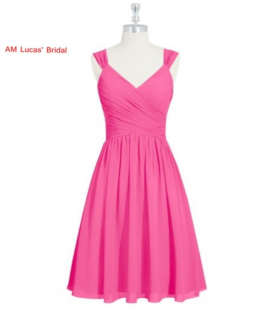 [해외]칵테일 드레스 시폰 Pleat 활 2017 무릎 길이 파티 파티 드레스 칵테일 파티 짧은 드레스 Vestido De Festa Curto/Cocktail Dress Chiffon Pleat Bow 2017 Knee Length Prom Party Gowns Co