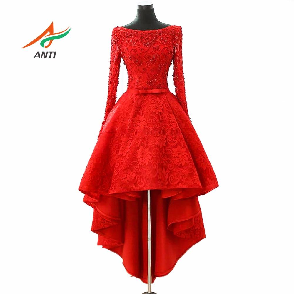[해외]앤티 럭셔리 2017 칵테일 드레스는 크리스탈을 비싼 높은 낮은 가운 드 Vestidos 드 Coctel 졸업 파티 Novias 가운/ANTI Luxury 2017 Cocktail Dresses Beaded Crystals High Low Robe De Vest