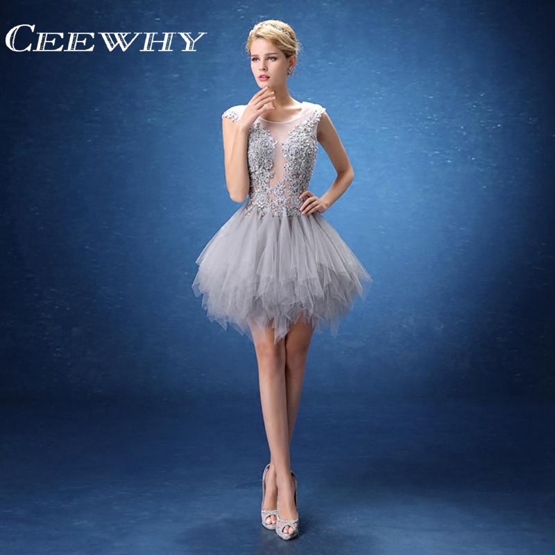 [해외]CEEWHY 자수 파티 드레스 특별 행사 공식 가운 크리스탈 단편 댄스 파티 드레스 홈 커밍 로브 드 칵테일 드레스/CEEWHY Embroidery Party Dress Special Occasion Formal Gown Crystal Short Prom Dre