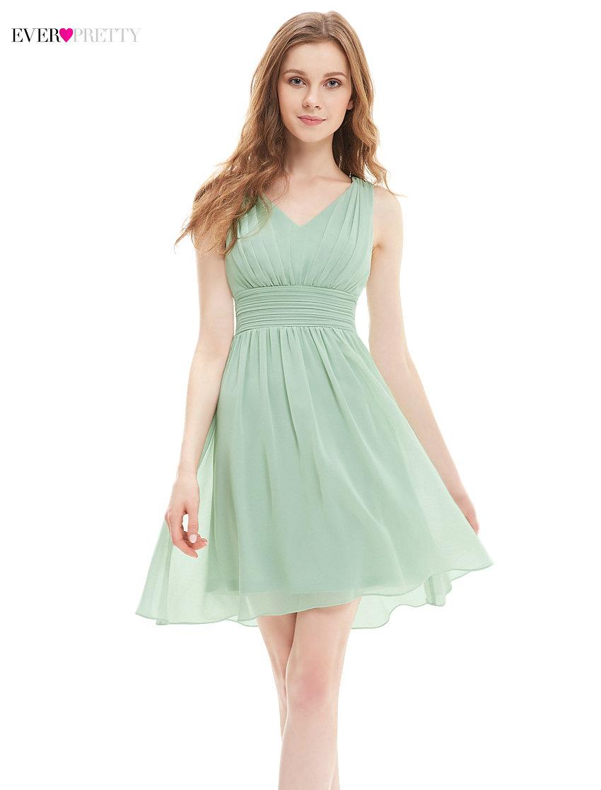 [해외][정리] 새로운 칵테일 드레스 적 HE03909 여성 A 라인 V 넥 짧은 시폰 현대 칵테일 저렴한 드레스/[Clearance ] New Cocktail Dress Ever Pretty HE03909 Women A-line V-neck Short Chiffon