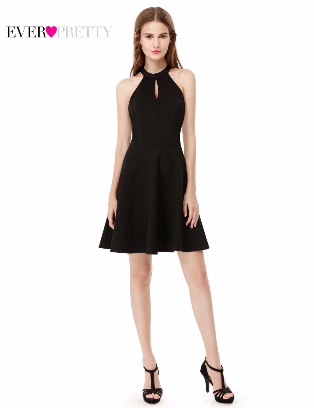 [해외]2017 칵테일 드레스 코튼 제국 홀터 미니 파티 드레스 적 꽤 AS05587 블랙 칵테일 드레스/New Arrival 2017 Cocktail Dresses Cotton Empire Halter Mini Party Dresses Ever Pretty AS055