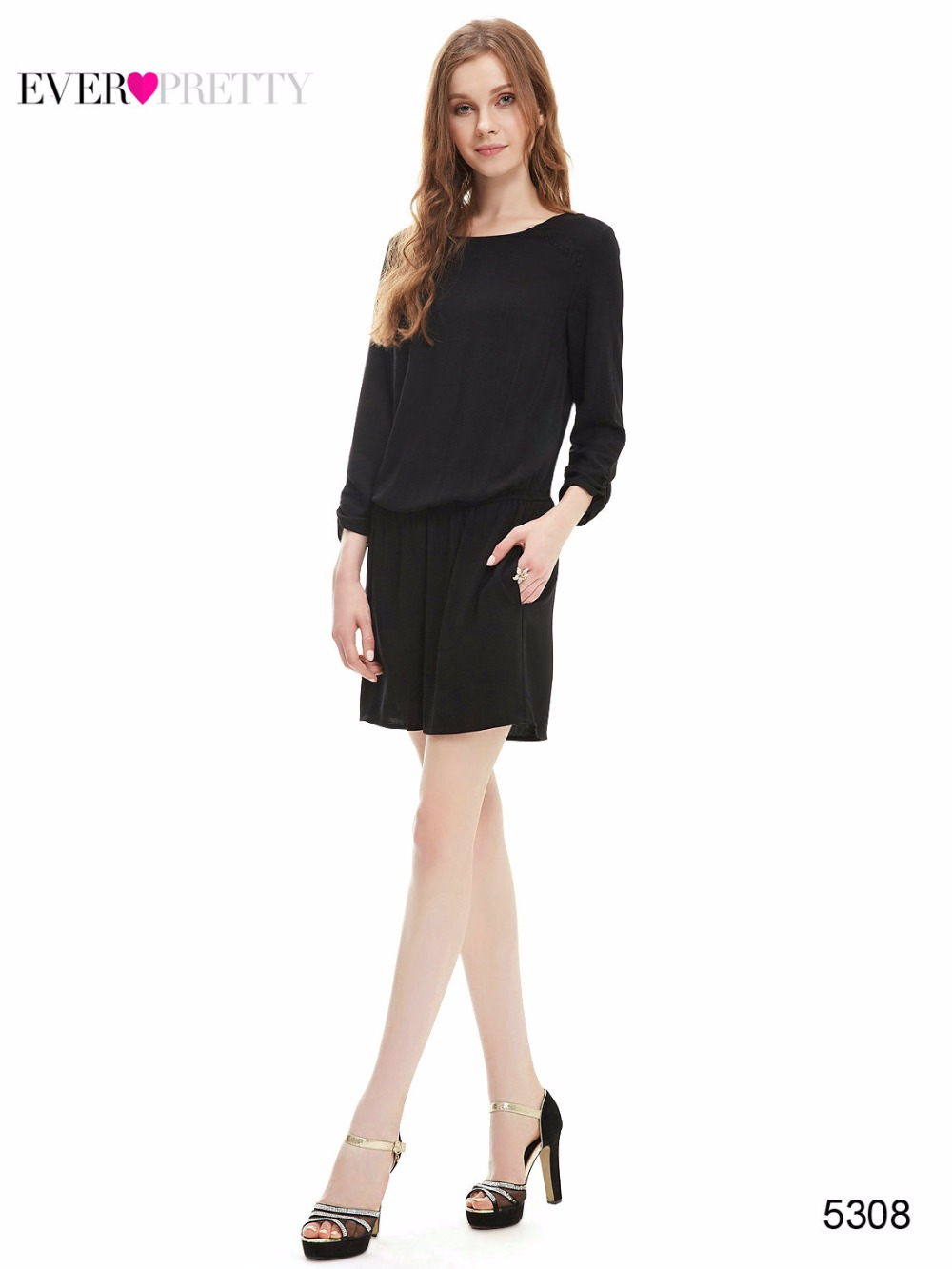 [해외][정리] 예쁜 여자 블랙 단색 우아한 칵테일 드레스 저렴한 드레스 빈티지 A 라인 짧은 파티 칵테일 드레스/[Clearance ] Ever Pretty Women Black Solid Elegant Cocktail Dresses Cheap Dress Vintag
