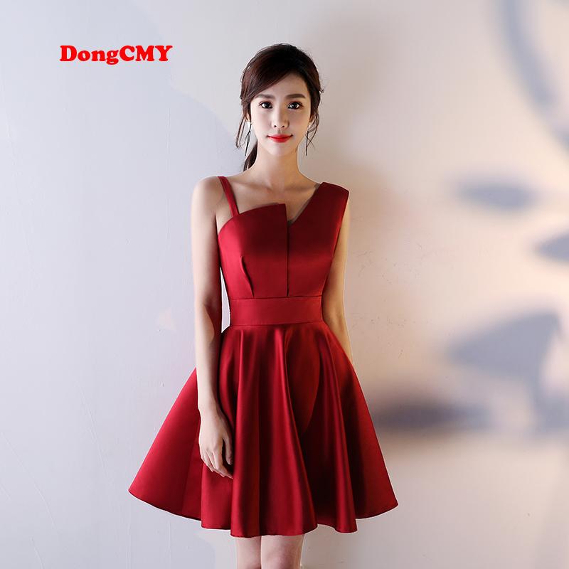 [해외]DongCMY 2018 짧은 한 어깨 파티 칵테일 드레스/DongCMY 2018 new arrival short one shoulder party cocktail dress
