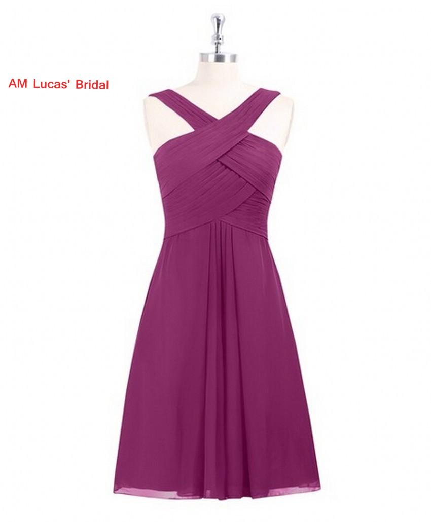 [해외]새로운 라인 칵테일 드레스 쉬폰 무릎 길이 파티 파티 드레스 짧은 드레스 Vestido De Festa Curto/New A line Cocktail Dress Chiffon  Knee Length Prom Party Gowns Short Dresses Vest