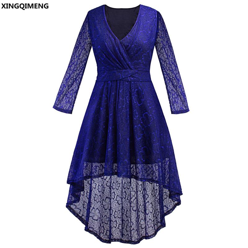 [해외]재고 있음 저렴 한 간단한 높은 낮은 칵테일 드레스 레이스 긴 Retail 우아한 로얄 블루 공식적인 드레스 플러스 크기 짧은 prom 가운/In Stock Cheap Simple High Low Cocktail Dress Lace Long Sleeve Eleg