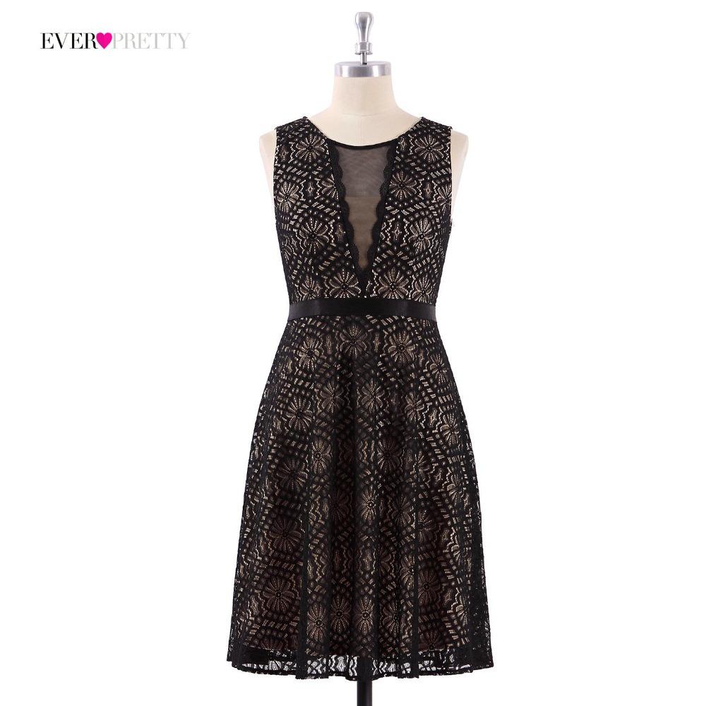 [해외]레이스 칵테일 드레스 적 꽤 AS04043 싸구려 A- 라인 민Retail 블랙 빈티지 미니 홈 커밍 드레스 패션 파티 드레스/Lace Cocktail Dresses Ever Pretty AS04043 Cheap A-line Sleeveless Black Vin